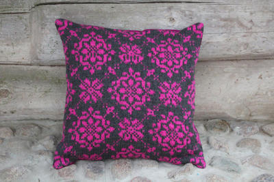 Accent pillow cover knitted Black