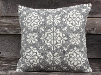 Accent pillow cover knitted Grey