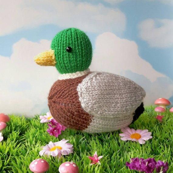 Beneduck Cumberquack mallard duck knitting pattern