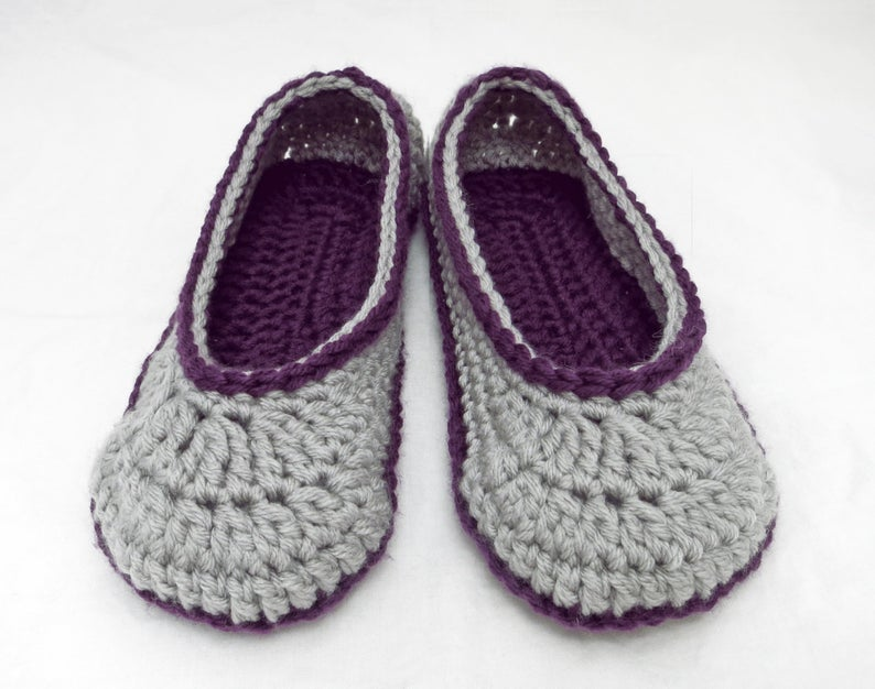 2 Hour Slipper - Crochet Pattern - Includes Full Stitch Charts