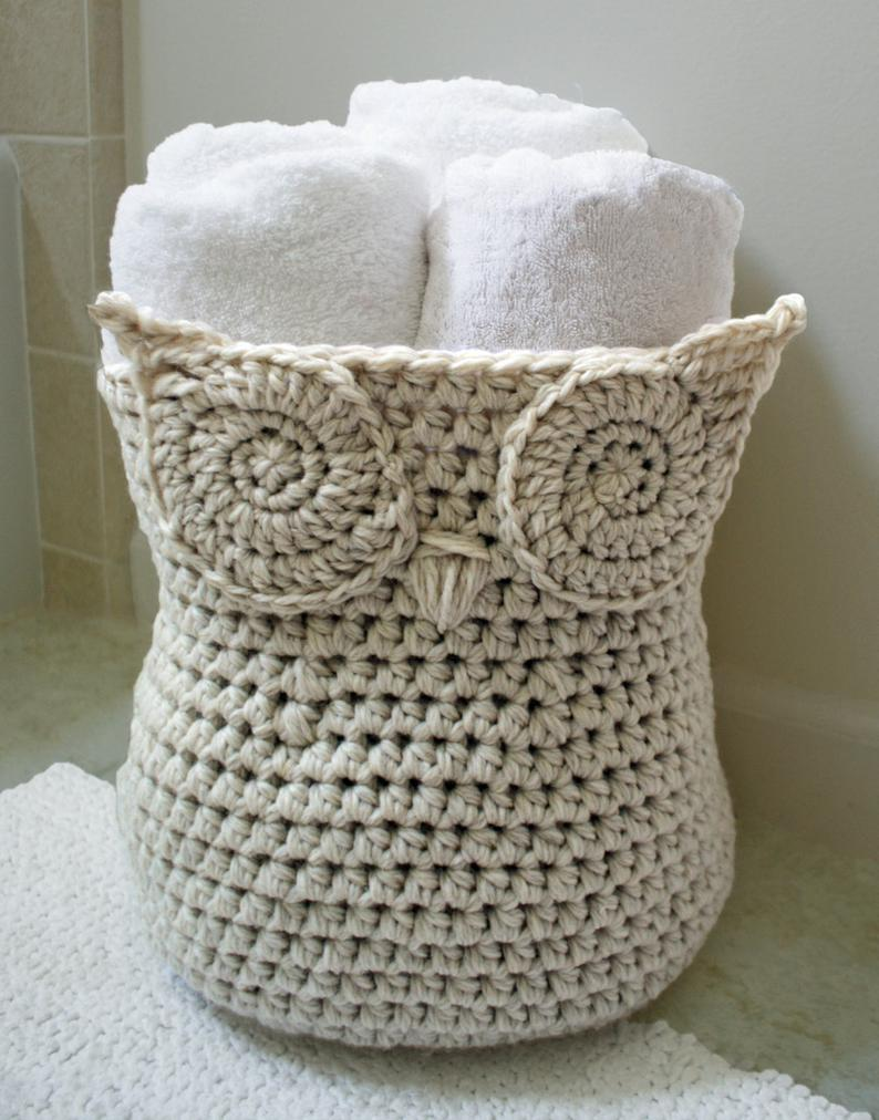 Crochet Pattern - The Original Owl Basket