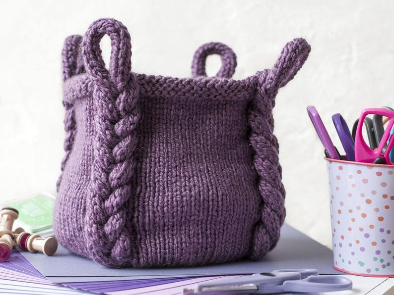 Knitting Pattern - Entangle Basket
