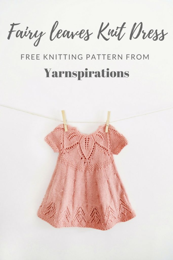 Fairy leaves Knit dress Pattern From Yarnsinspirations