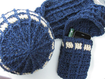 TARDIS-inspired Hat & Scarf Crochet Pattern - Doctor Who Inspired Geekery