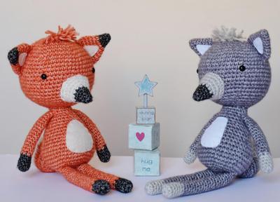 Crochet Amigurumi Fox and Wolf
