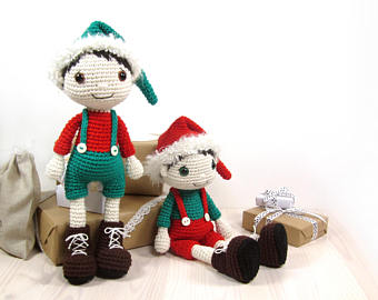 Christmas Elf - Amigurumi doll pattern - Crochet tutorial with photos