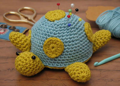 Crochet Kit - Spotty the Turtle pincushion