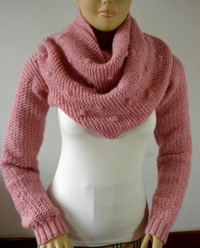 Big Scarf Cowl with Long Sleeves