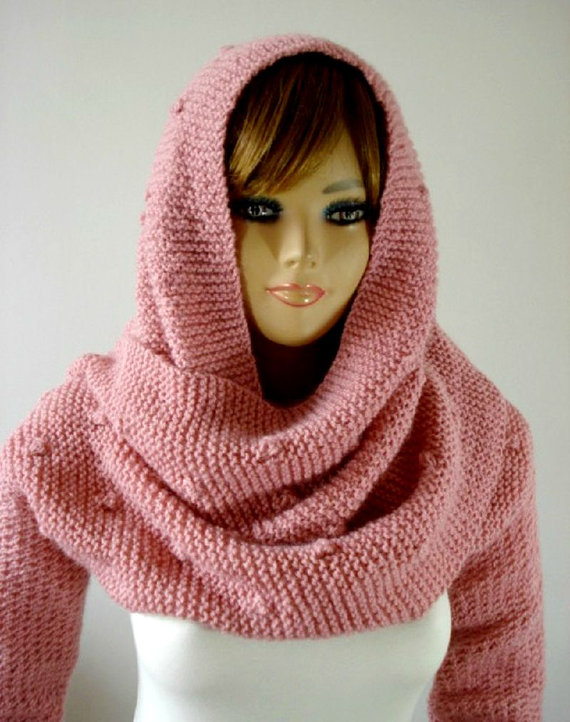 Celine Hooded Scarf with long Sleeves