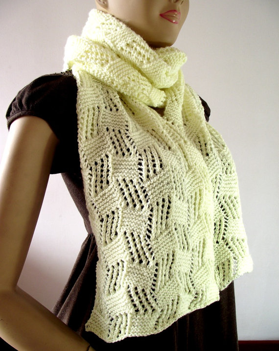 Cool Breeze Scarf pdf pattern Instant Download