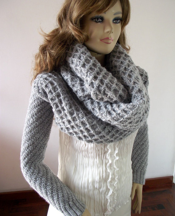 Khloe Scarf with sleeves Knitting Pattern