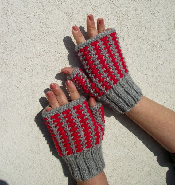 Knit Mittens fingerless
