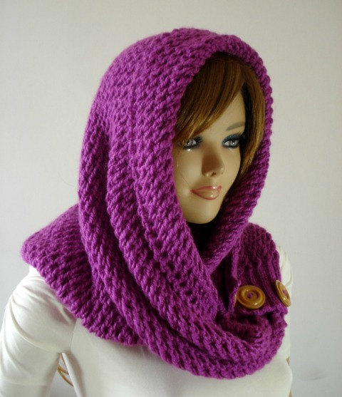 LouLou Kiss Hooded Scarf