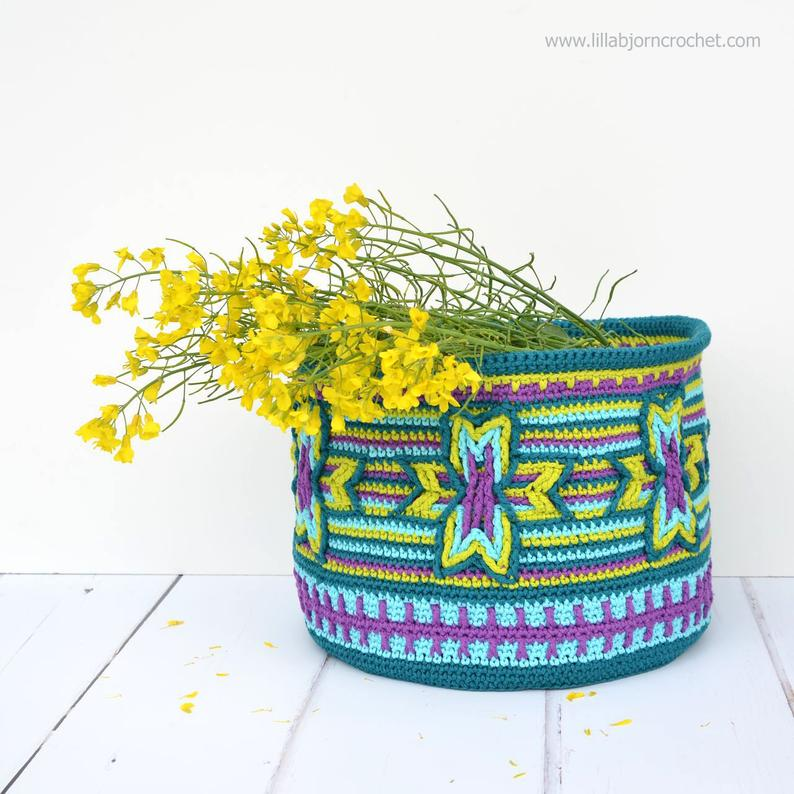 Indian Star Basket - overlay crochet