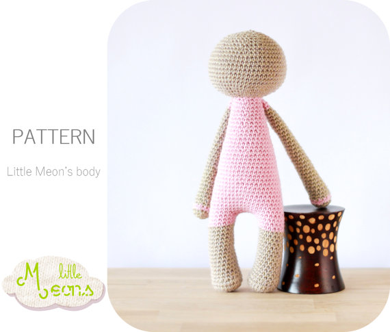 Crochet PATTERN - Body of a Little Meon