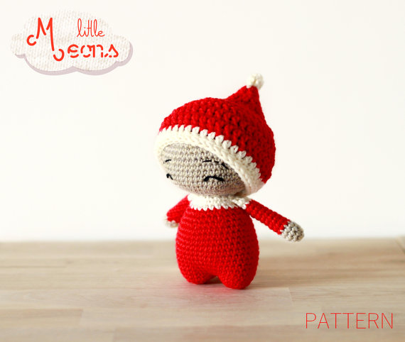 Crochet PATTERN - Teenytiny little Meons