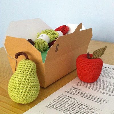 Crochet Fruit Apple Pear Kit