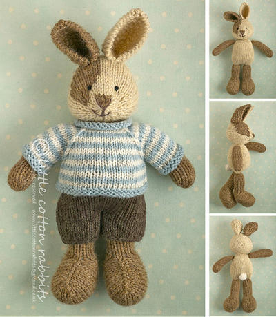 Toy knitting pattern for a bunny boy