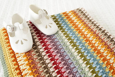 Baby Blanket Crochet Pattern Retro
