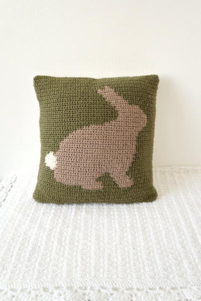 Bunny Rabbit Cushion Pattern Pillow