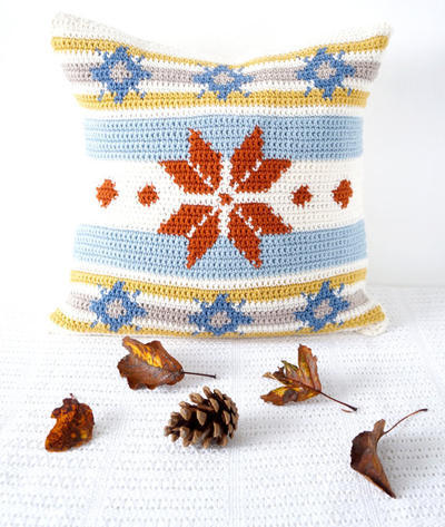 Fair Isle Scandinavian Crochet Cushion Pattern