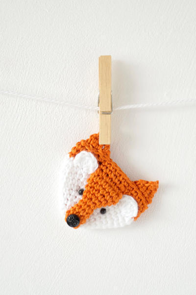 Fox Badge Crochet Pattern