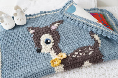 Hello Little Deer Baby Blanket