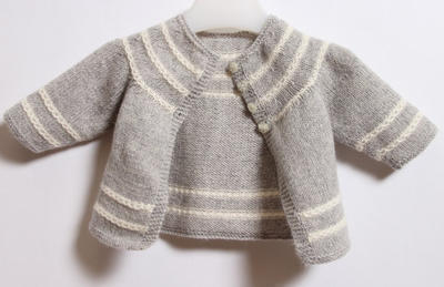 French Baby Knitting Patterns : misterpattern - Baby Cardigan / Knitting Pattern Instructions in English