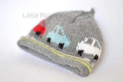 Little Cars Hat- newborn to 5 years