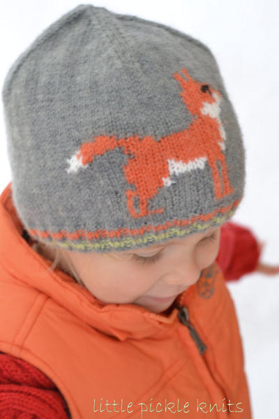 Little Fox Hat - Flat knitting