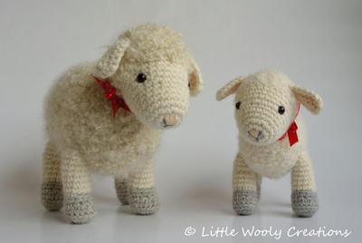 Crochet Pattern Cora the Sheep and Sofie the little lamb