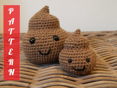 Big and small Mr Poop PDF pattern