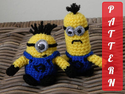 PDF pattern Minion plush doll crochet