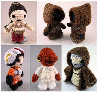 5 Star Wars Mini Amigurumi PDF Pattern