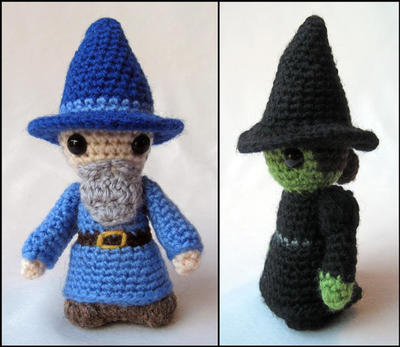 Witch and Wizard Mini Amigurumi Pattern PDF