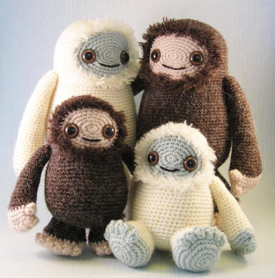 Yeti and Bigfoot Amigurumi Pattern PDF