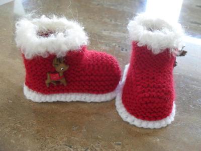 Baby Christmas/Santa Booties