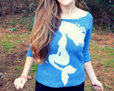Misterpattern Crochet Mermaid Top Pattern Sweater Lemuria