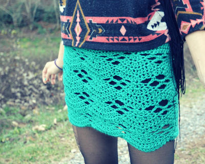 Crochet mini skirt beginner pattern - Vortex