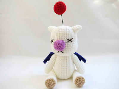 Amigurumi Final Fantasy X Moogle Doll