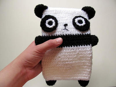 Amigurumi Panda Bear Black and White Kindle Carry Case