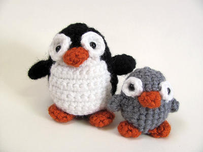 Amigurumi Penguin and Chick