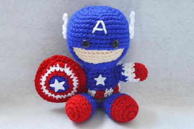 Captain América Amigurumi