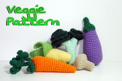 Pattern Valuable Veggie - Crochet Play Food PDF
