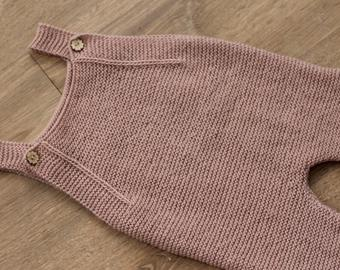Knitted romper pattern 9-12 months