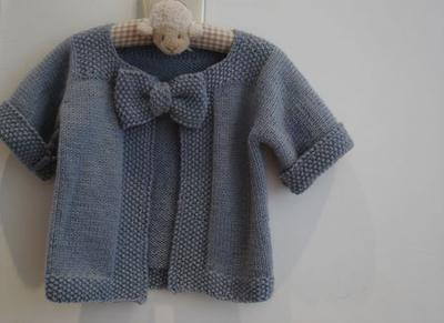 Girl Bow-Cardigan Pattern