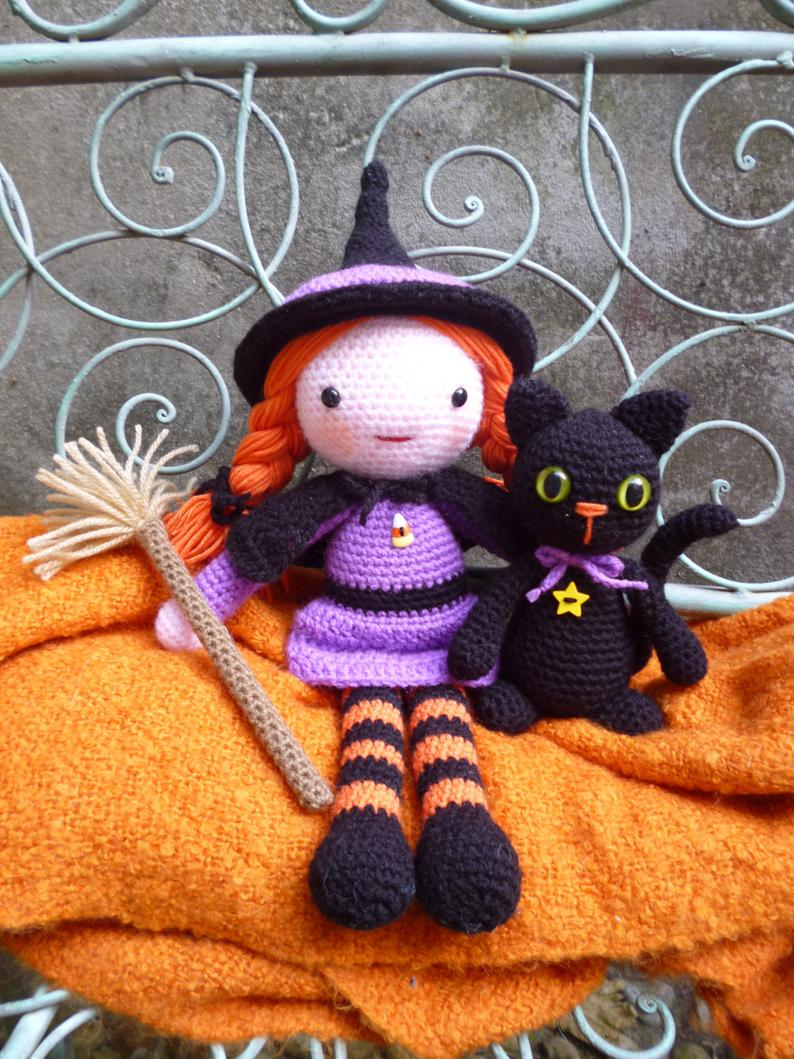 Morgana & Soots, Witch and black Cat Dolls