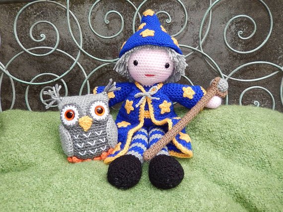 Wizard and Owl Amigurumi Dolls Crochet Pattern