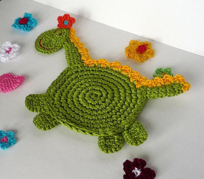 Crochet Dragon Coaster Pattern