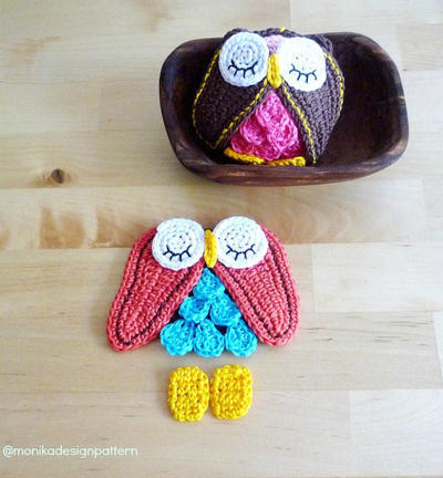 Crochet Owl Ornament, Keychain,Toy Pattern, DIY